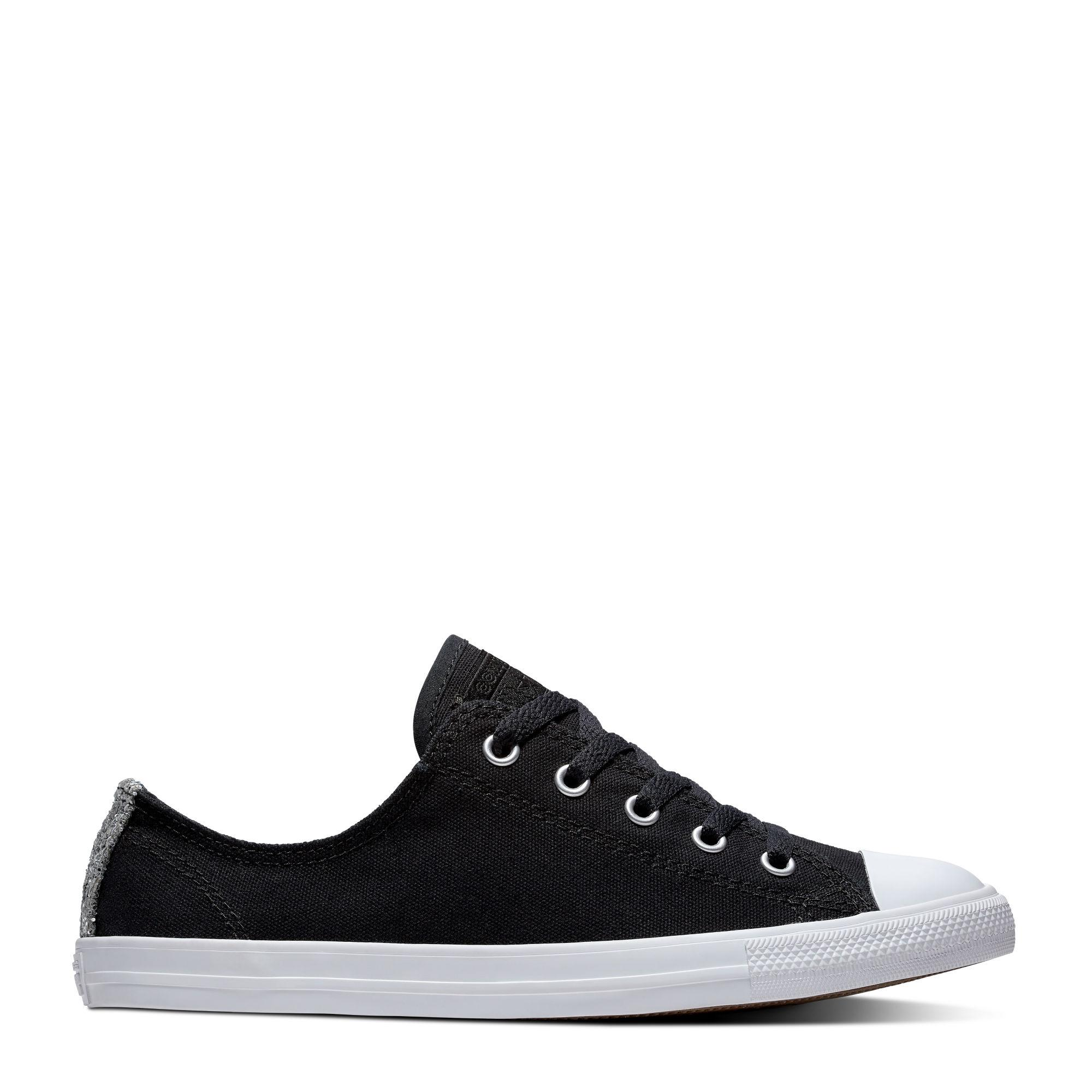 ddd24130fcc  SALE  CONVERSE CHUCK TAYLOR ALL STAR DAINTY OX - BLACK SILVER WHITE