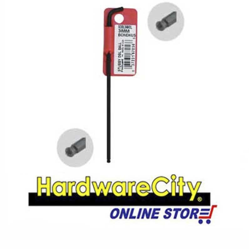 Bondhus Stubby Double Ball End L-Wrenches Hex Keys, Black (Metric) - 2.5mm [67052]