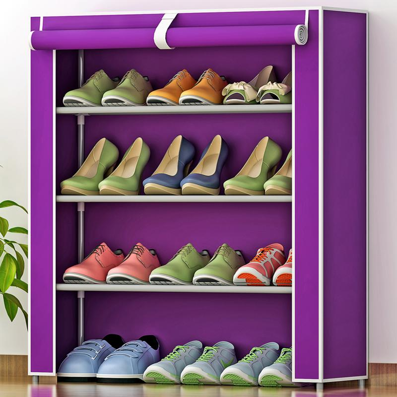 Shome nuo New Products Creative Practical Shoe Rack Rust-proof Steel Pipe Storage Rack Multilayer Simple Shoe Rack