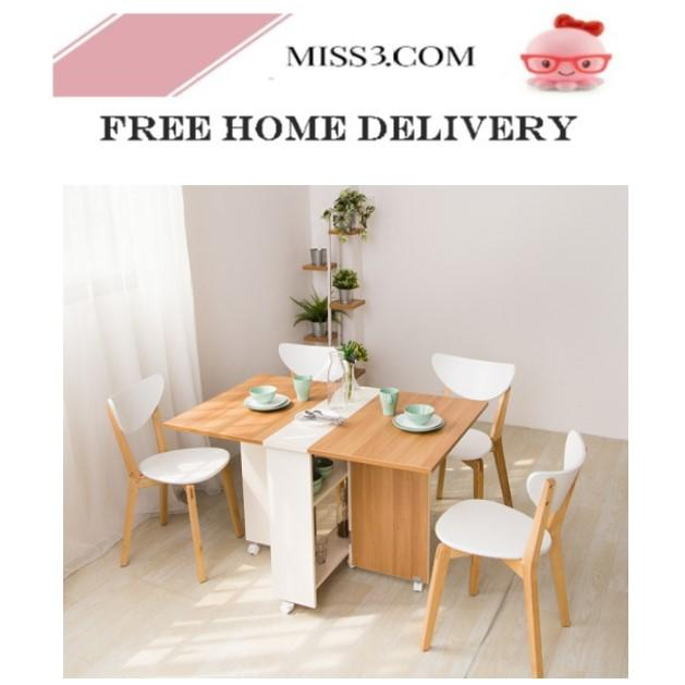 Smart 120cm Dining Table With Storage By Miss3.com.