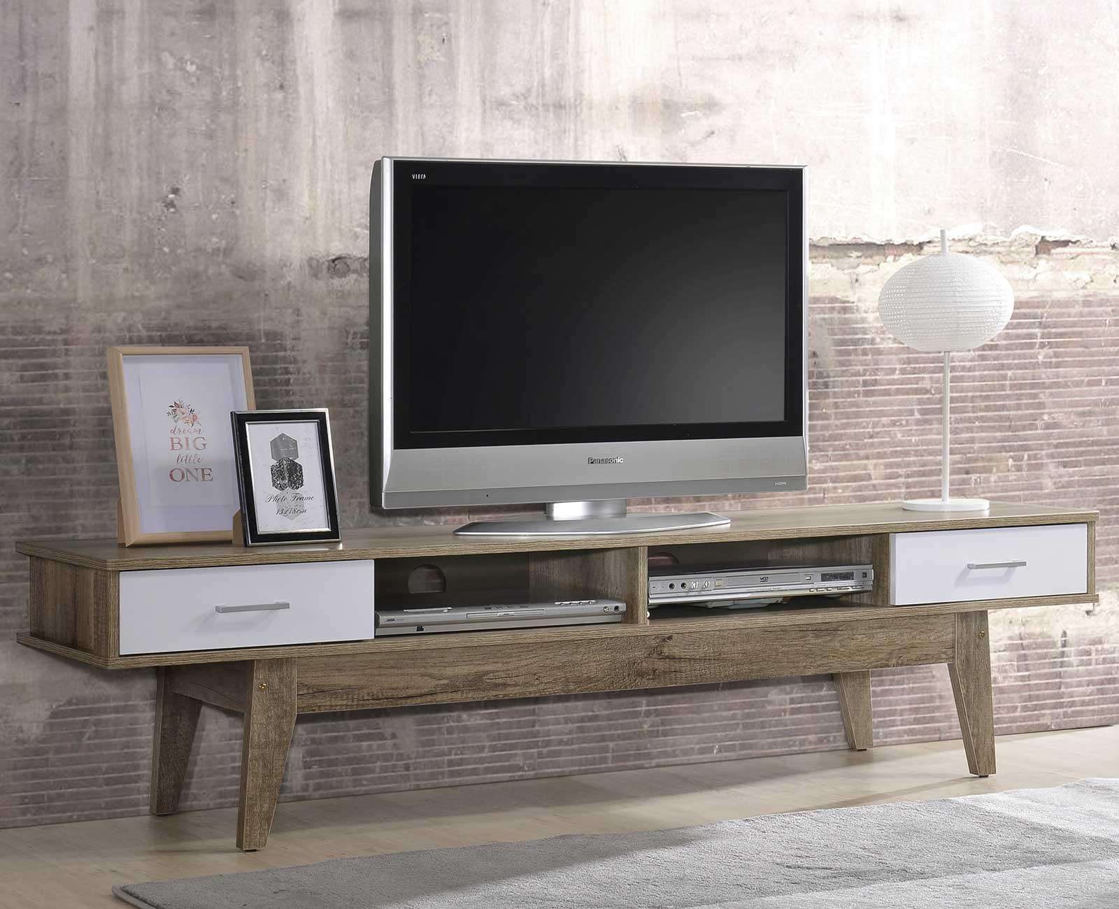 Scandinavian TV Console - 1.8m / 6ft Cabinet Shelves Stand Entertainment Unit ⭐ E-LIVING Furniture