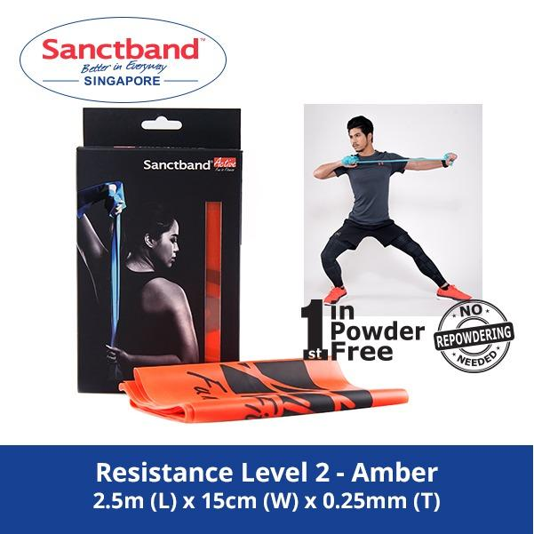Price Comparisons For Sanctband Active Resistance Exercise Band Resistance Level 2 Amber