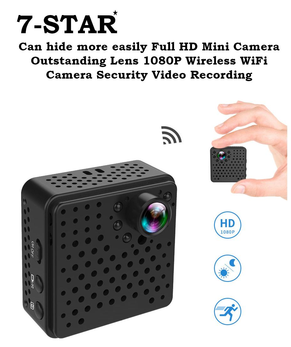 16f656a27c3a Full HD Mini Hidden Spy Camera Outstanding Lens with Invisible IR Night  Vision 1080P Wireless WiFi