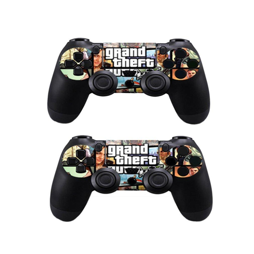 Vinyl Cover Decal Game Console Protector Fashion PS4 Sticker Skin for PlayStation 4 with 2 Controller Protective Sticker