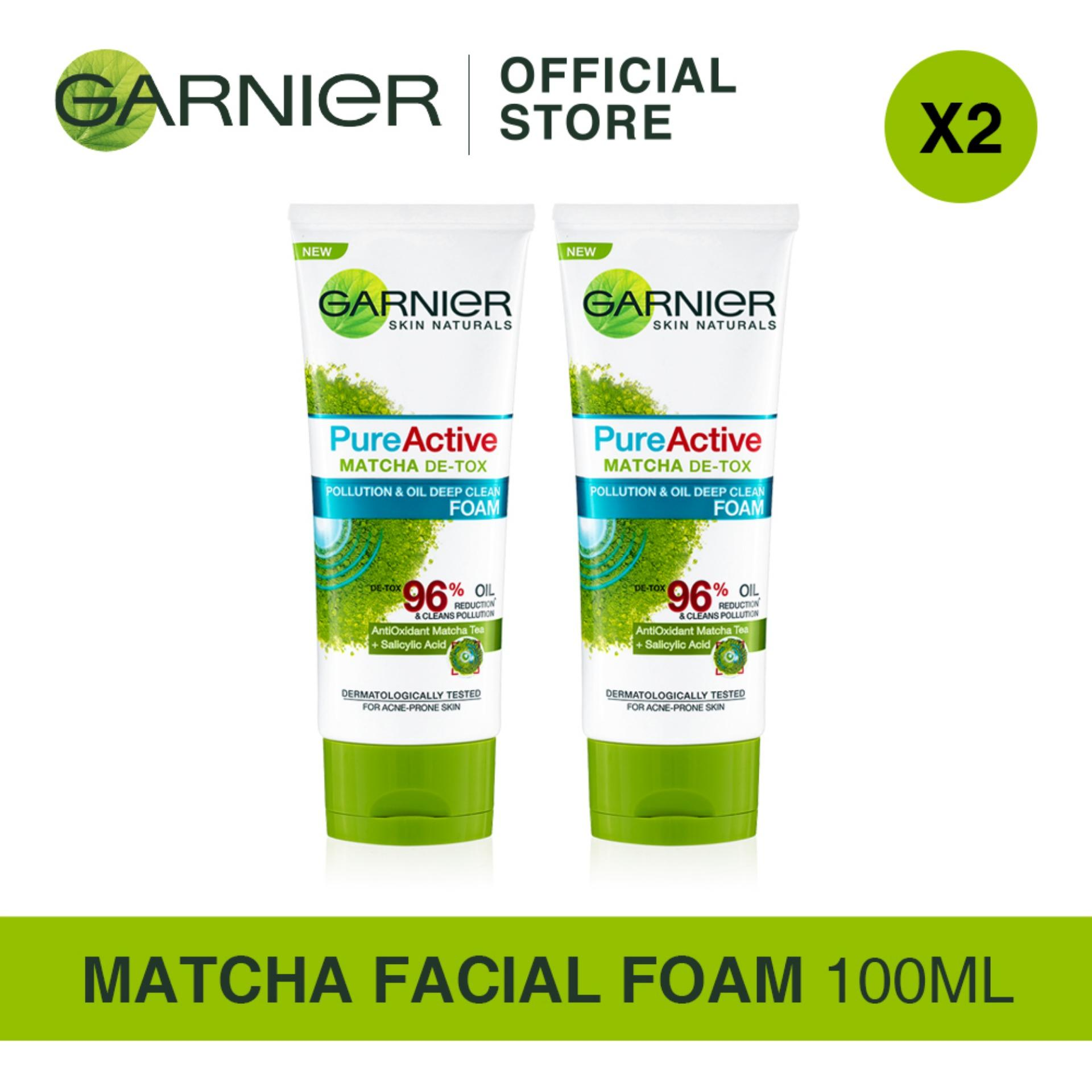 Matcha Series Garnier Pure Active Foam Men Gel Deep Clean 50ml Bundle Of 2s 100ml
