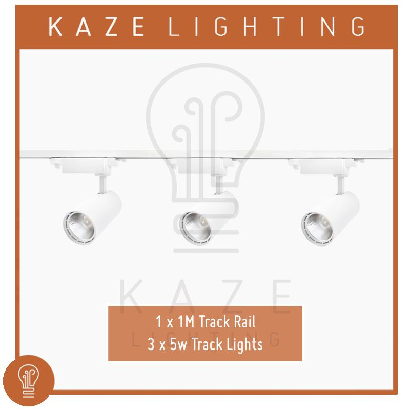 LED COB Track Light 3000K 5w x3 + 1m track