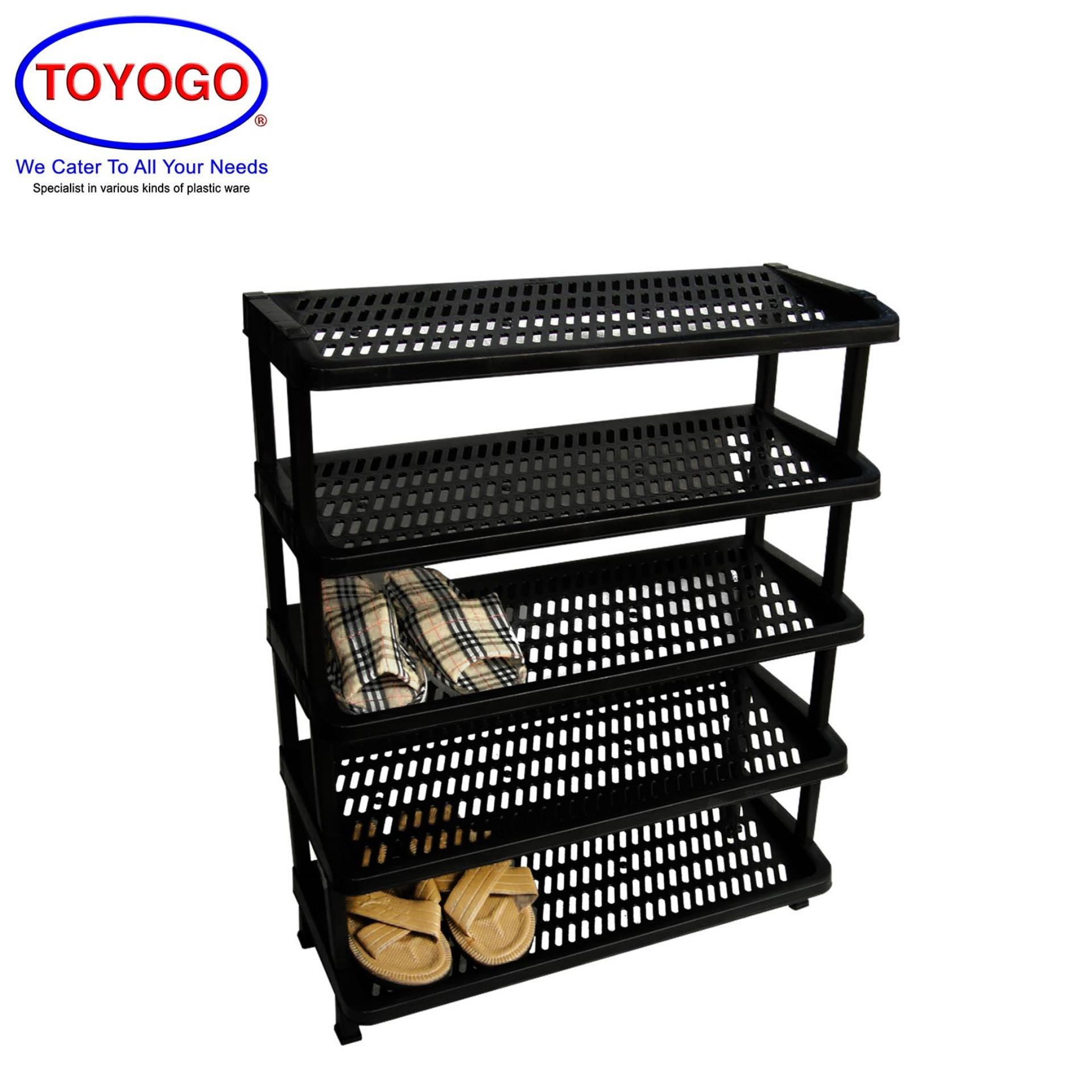Toyogo 5 Tier Plastic Shoe Rack [342-5]