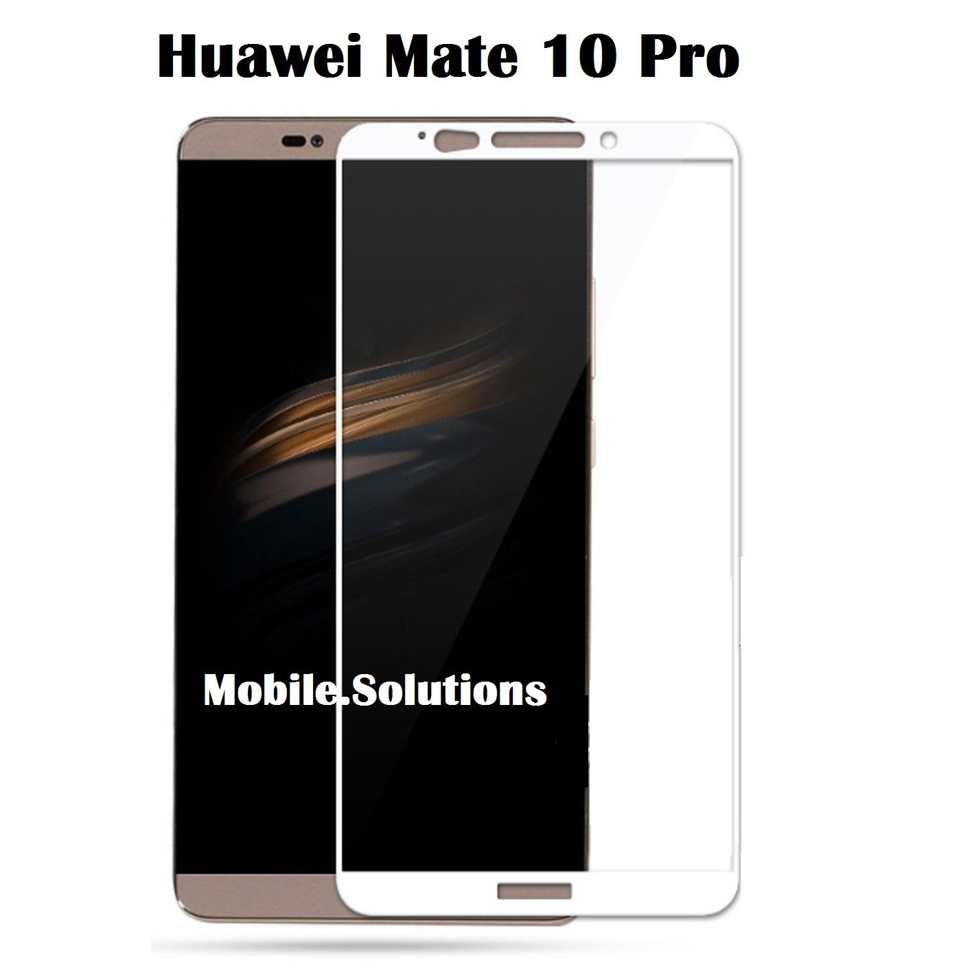 Huawei Mate 10 Pro Full Coverage Tempered Glass Screen Protector White