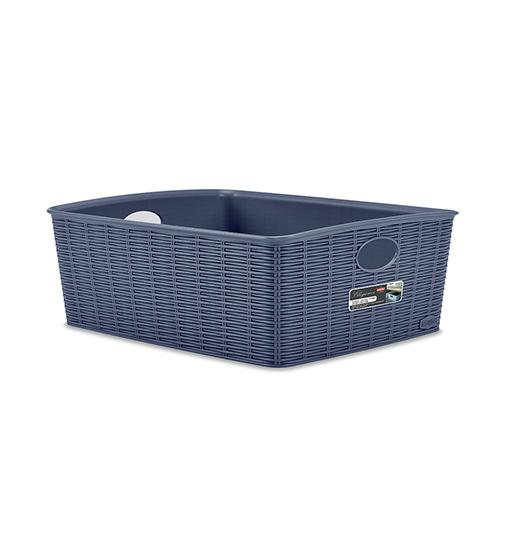 Elegance Basket High (L) | 100% Made in Italy | Suitable for Food Contact | HIGH QUALITY | Wicker Finishing