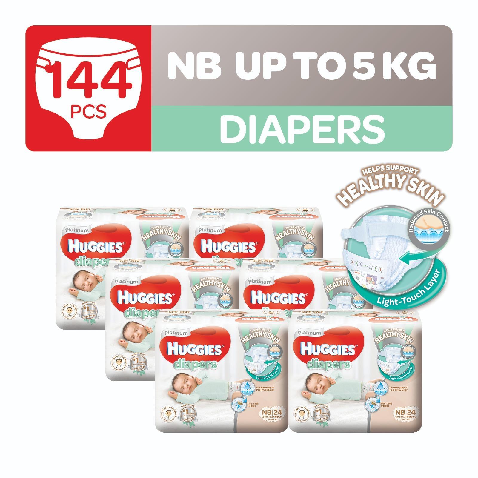 Huggies Platinum Diapers Newborn 24Pcs X 6 Packs Shop