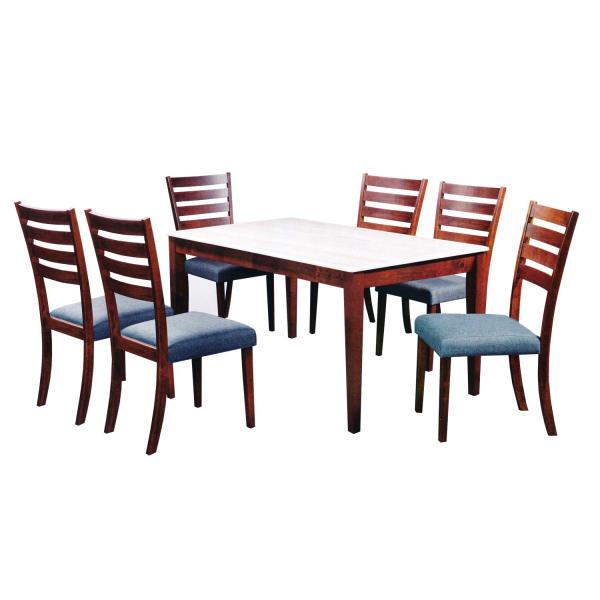 LIVING MALL_Fayyad Dining Set 1+6_FREE DELIVERY