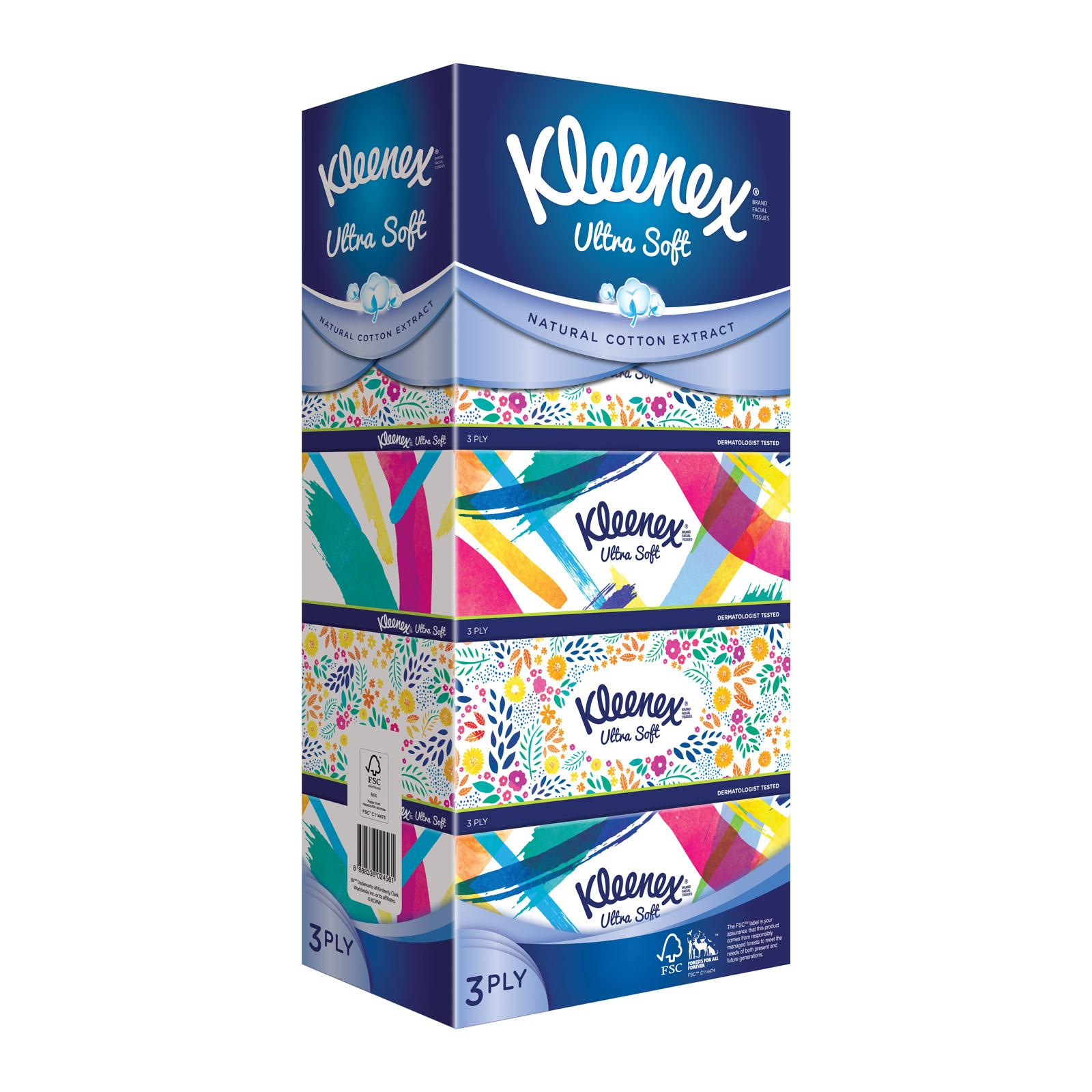 Kleenex Facial Tissue Refresh Floral 5x100pcs By Kimberly Clark Official Store.