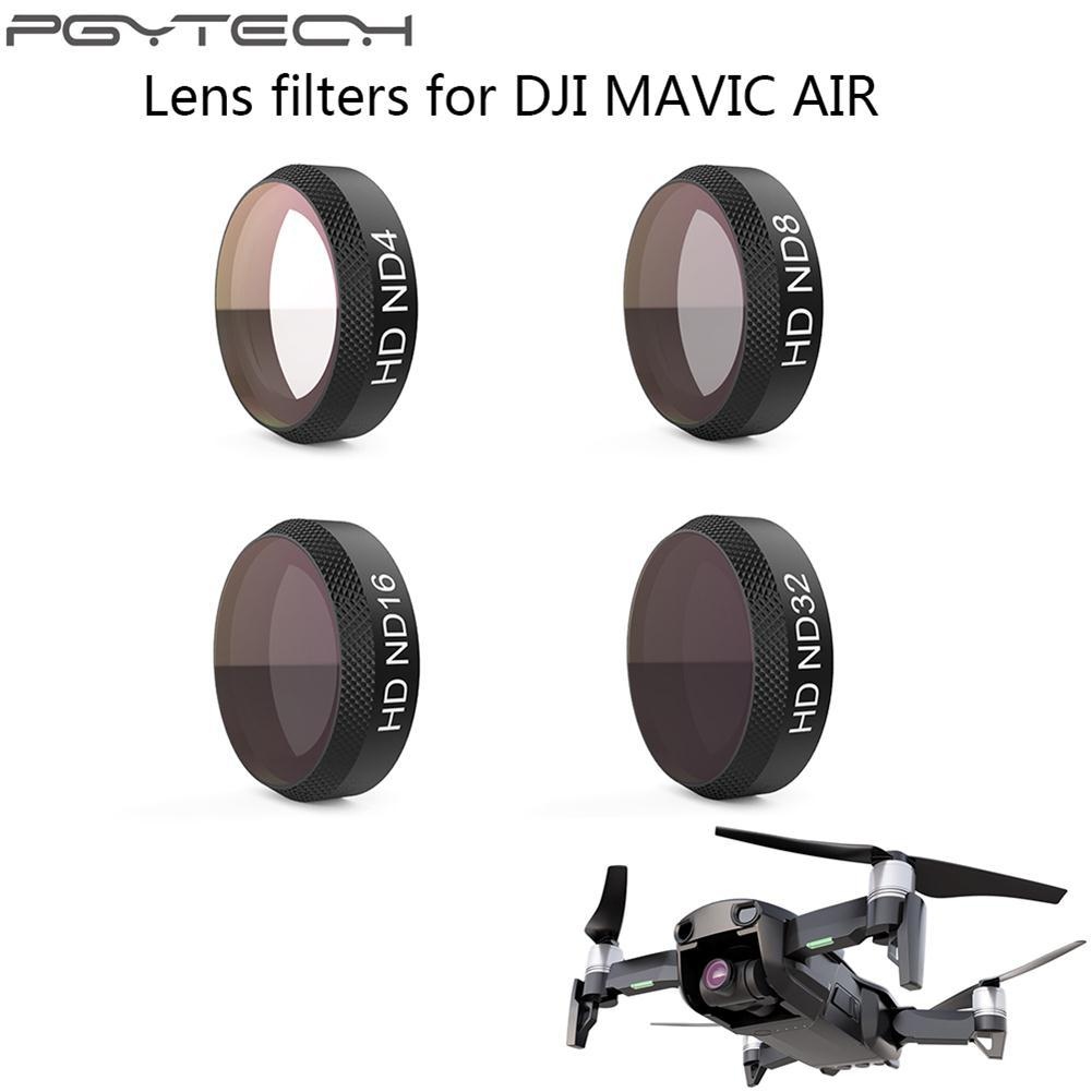 Price Pgytech 4 Pcs Camera Lens Hd Clear Filter Sets Nd Neutral Density Filters Parts Dimmer Kit For Dji Mavic Air Online China
