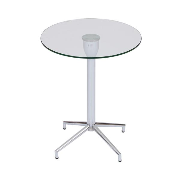 Bo Living SEA Salduba Chrome Tempered Glass Side Table