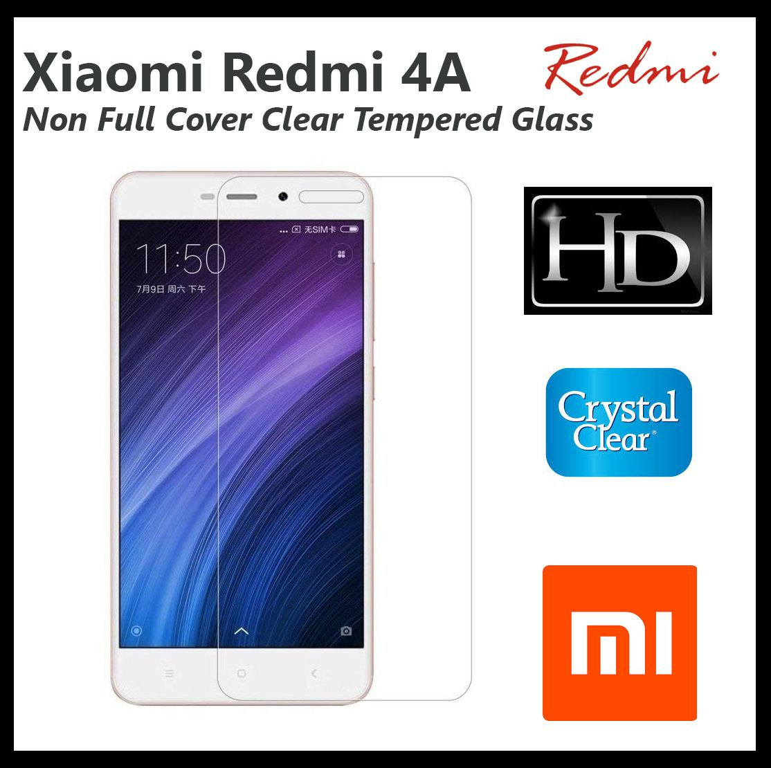 1x Xiaomi Redmi 4A Non Full Cover Clear Tempered Glass Screen Protector