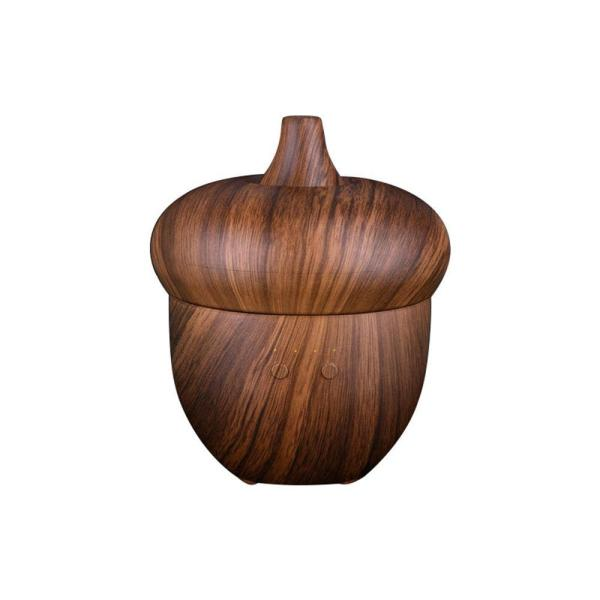 leegoal 300ml Creative Wood Grain Ultrasonic Humidifier 7 Color Oil Diffuser Essential Oil Aromatherapy ,US Plug Singapore