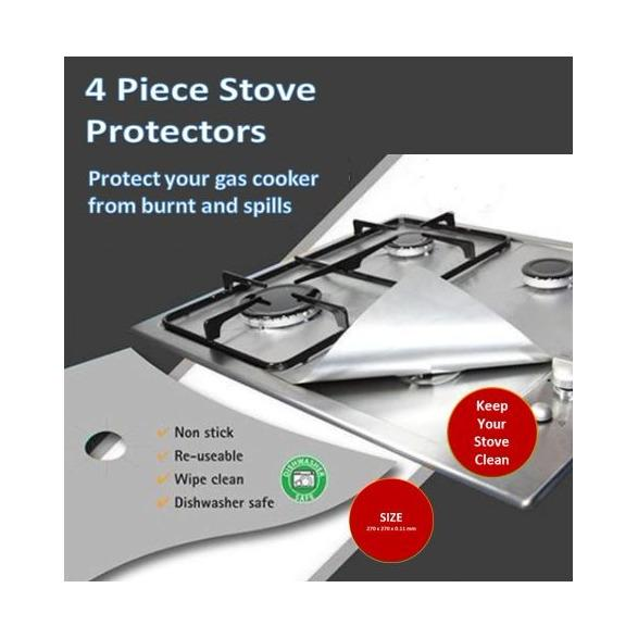 Reusable Glass Fibre Foil Gas Stove Burner Temperature Anti Fouling And Oil Protector By Clicksebiz.