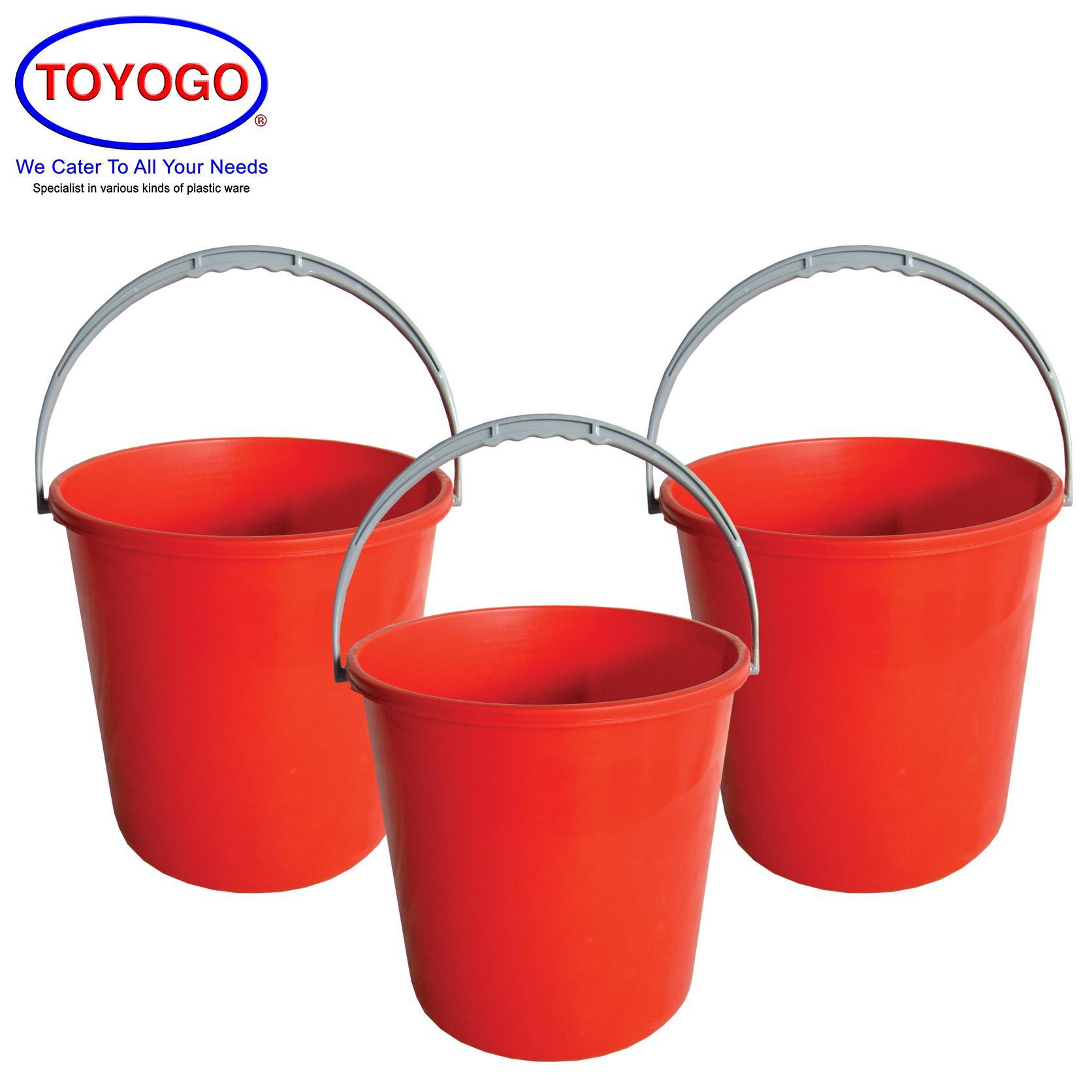 Toyogo 4 Gallon Plastic Pail (Bundle of 3) (4004)