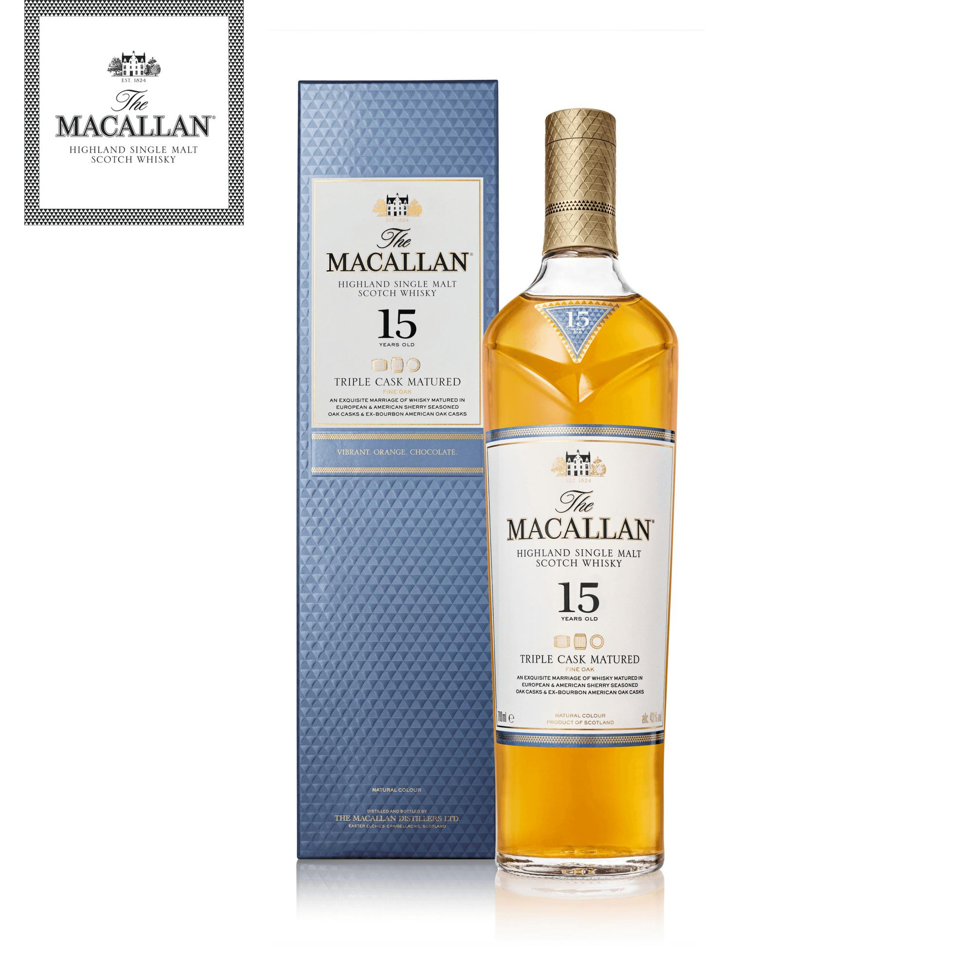 The Macallan Triple Cask Matured 15 Years Old By The Macallan.