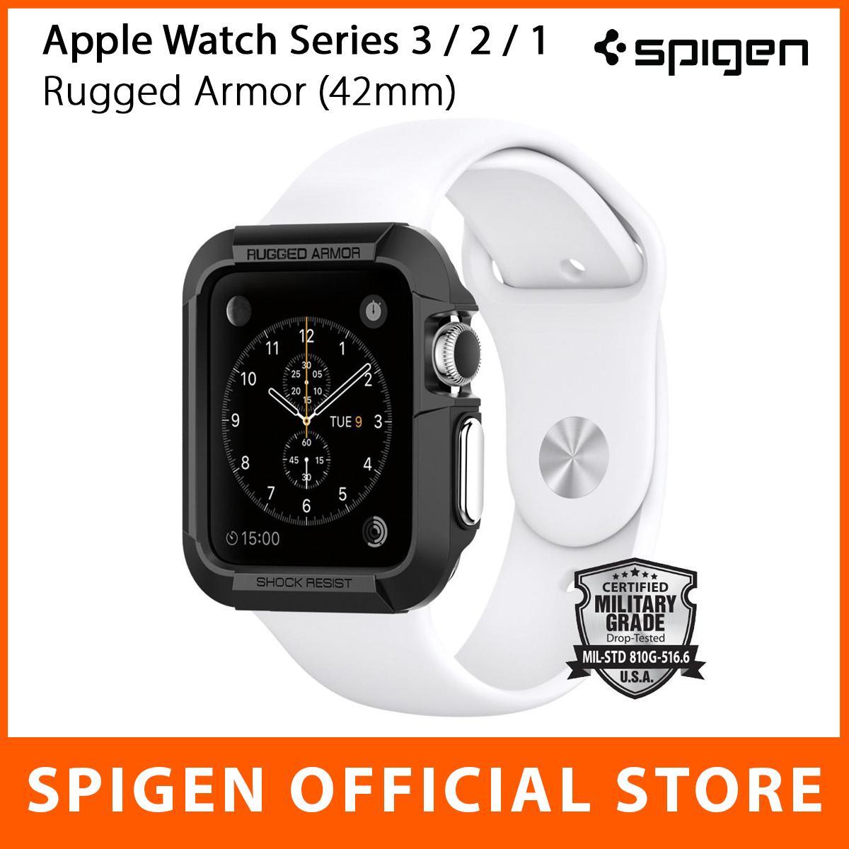 Buy Designer Smartwatches Cases Watches Lazada Spigen Apple Watch Rugged Armor Case 38mm Tpu Softcase Original