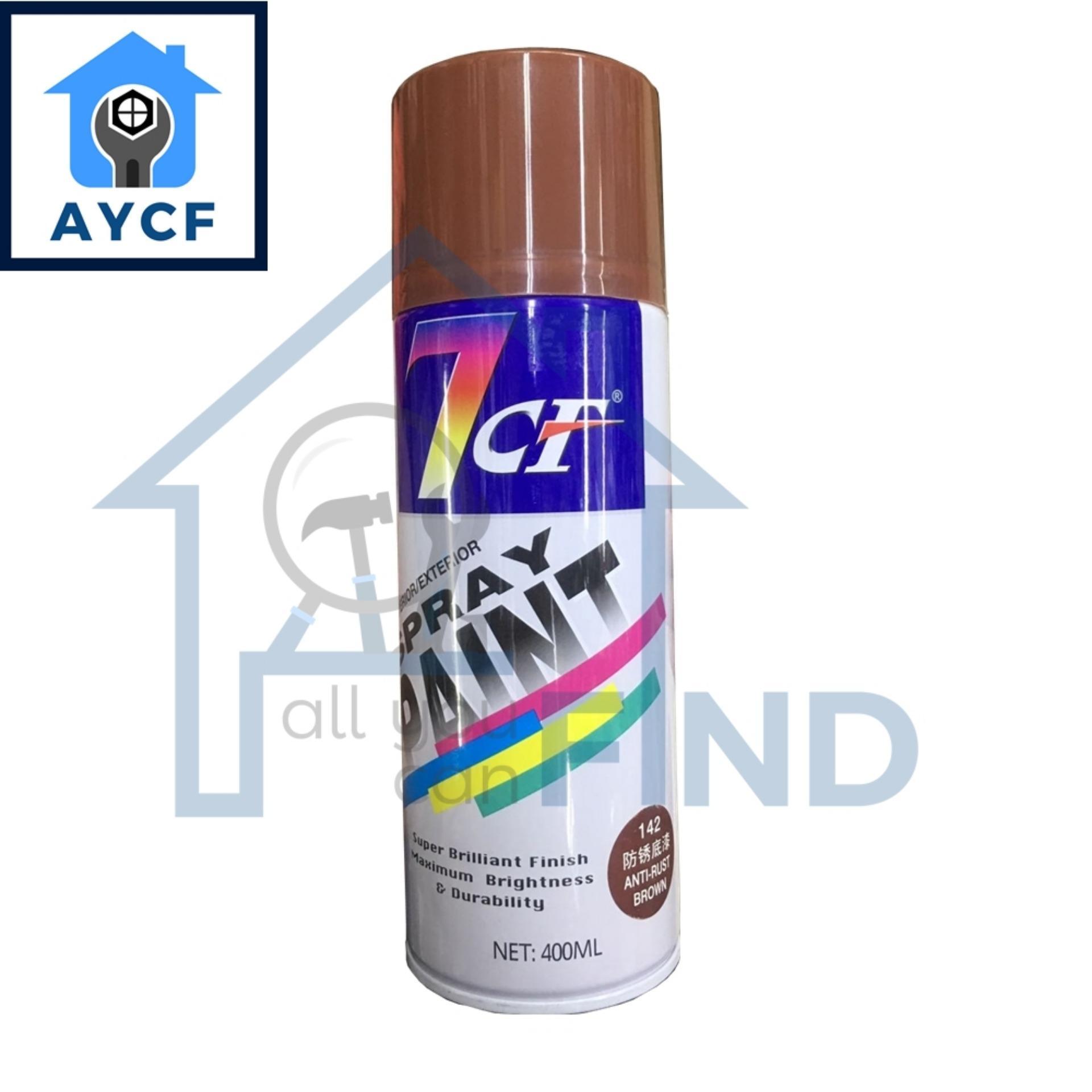 7CF Interior / Exterior Spray Paint 400ml - Anti-Rust Brown