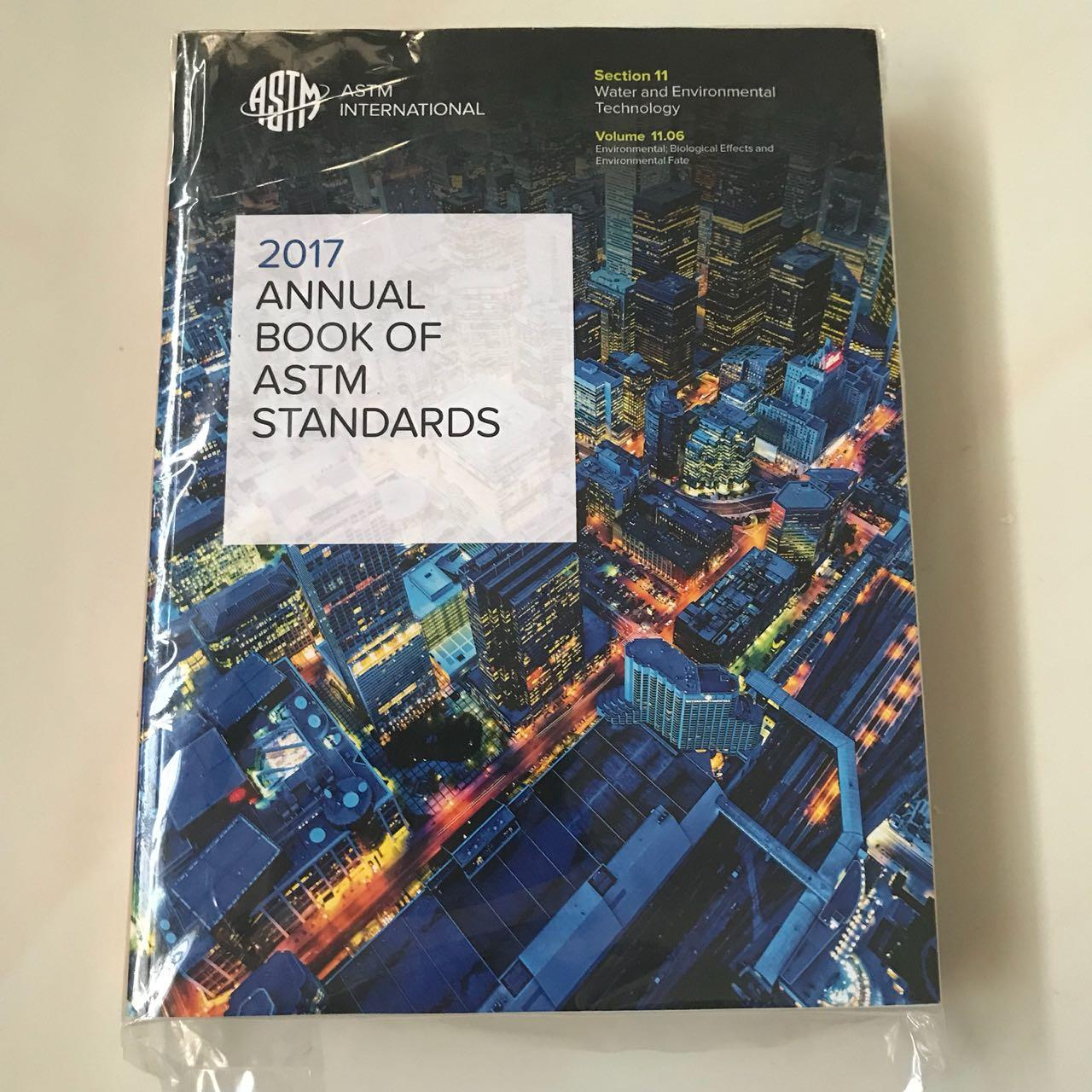 ASTM Annual Book Of Standards 2017 Vol 11.06 - Water and Environmental Technology
