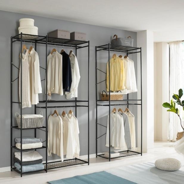 2-Tier 120cm Simple Modern Metal Clothes Rack
