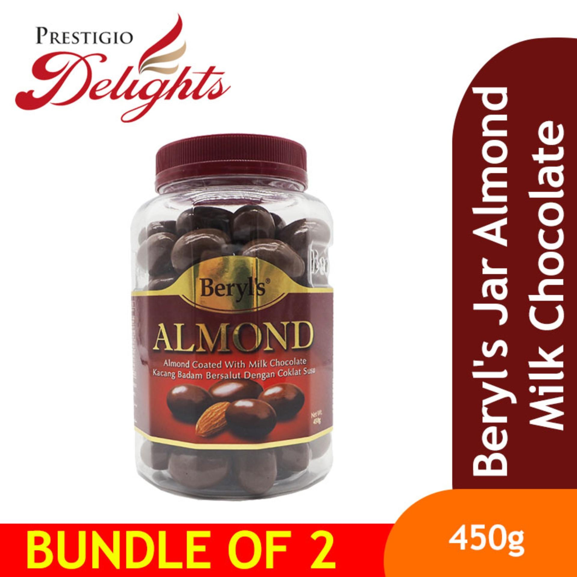 Beryls Jar Almond Milk Chocolate 450g Bundle Of 2 By Prestigio Delights.