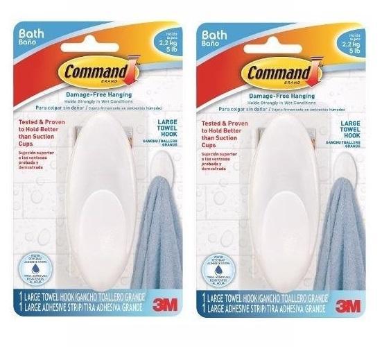 Recent Bundle Of 2 3M™ Command™ Bathroom Towel Hook With Water Resistant Strips Bath 17