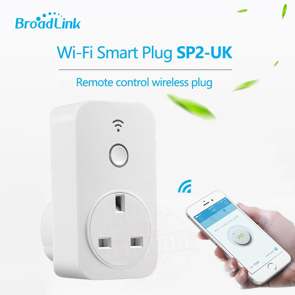 Original Broadlink Sp2 Smart Home Wireless Wifi Timer Socket Intelligent Ios Android Remote App Control Power Supply Uk Plug Lower Price
