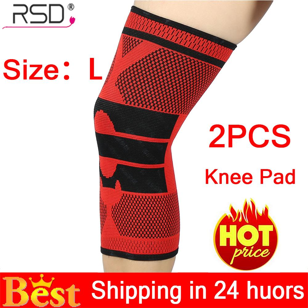 【limited Time Promotions】2pcs Sport Knee Sleeve Guard Wrap Support Pad Tone Up Basketball Outdoor Strap Brace Red L - Intl By Rongshida.