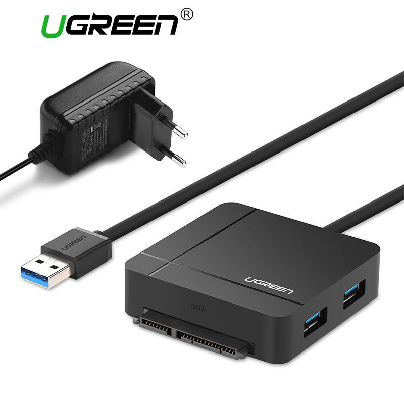 Ugreen Usb 3.0 To Sata Cable With Power Adapter For 2.5 3.5 Hdd Ssd Hard Disk Drive Sd/tf Card Reader 3.0 Hub Usb Sata Adapter (uk Plug)-Intl By Ugreen Flagship Store.