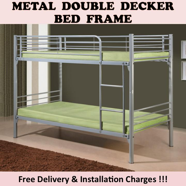 MICHELLE Super Single Size Double Decker Bed with 2 Plywood
