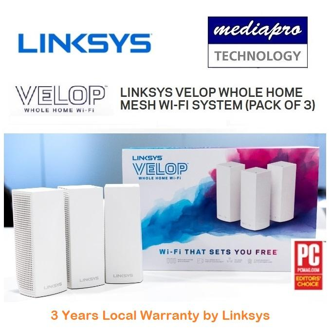 Linksys Whw0303 Velop Whole Home Mesh Wi-Fi System (pack Of 3) By Mediapro.