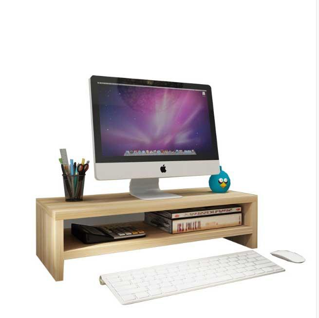 Yijie 2 Levels Wooden Lcd Led Monitor Ergonomic Stand