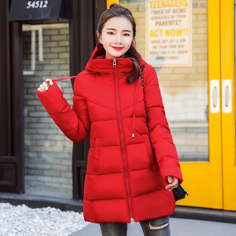 9399fa67e Off Season Hooded Cotton-padded Clothes Female Mid-length Winter New Style  Korean Style Slim Fit Cotton-padded Jacket Slimming Thick down Jacket ...