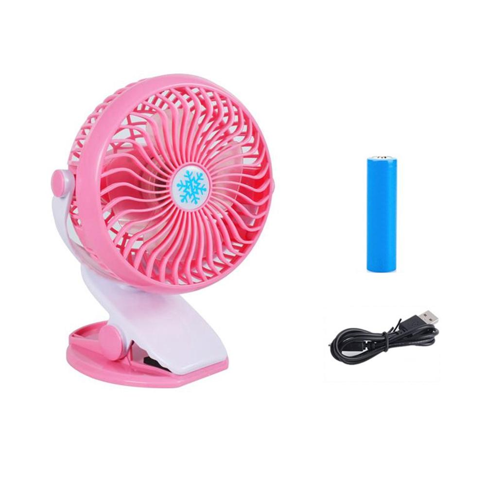 Auoker Batteries Operated Fan, Clip On Fan, Portable Rechargeable Desk Fan For Baby Stroller, Car Gym Home Office Outdoor Traveling And Camping - intl