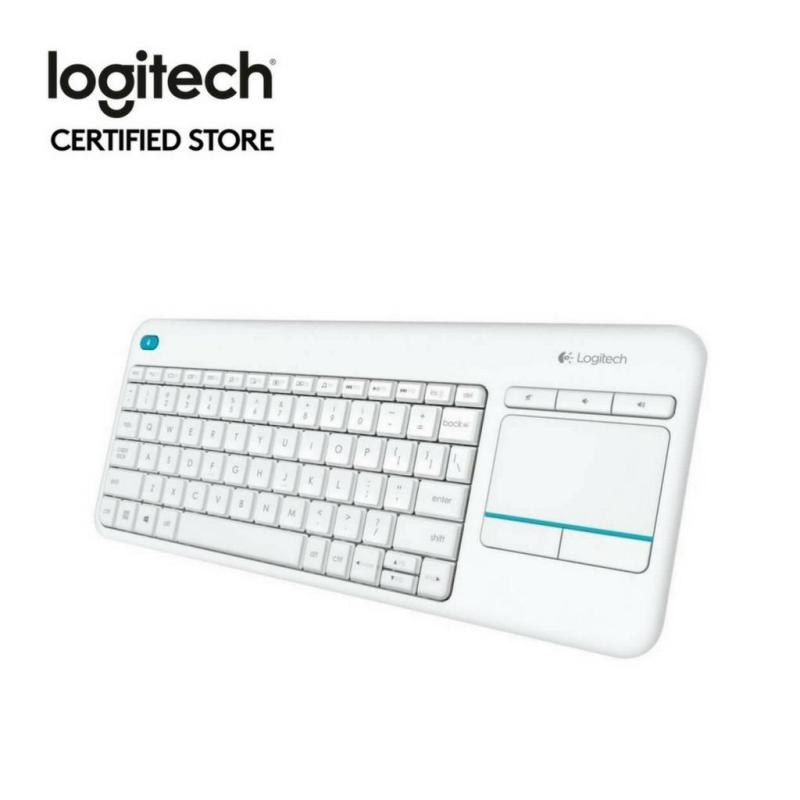 Logitech K400 Plus White TV Plus Unifying Keyboard with Android Keys and Integrated Touchpad, TV-Connected PC Singapore