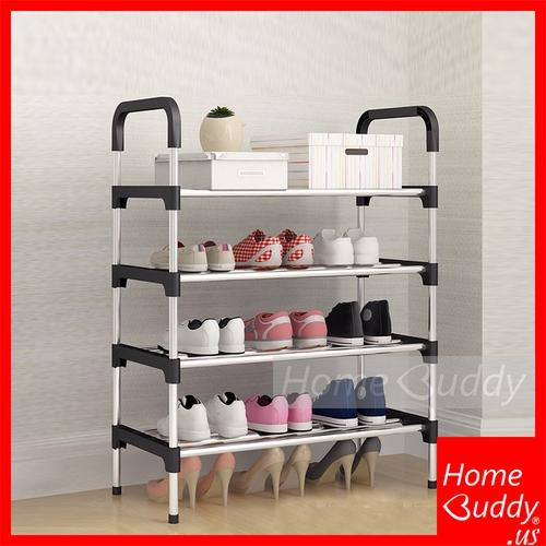 Shoe Rack [Stainless Steel] 4Tiers or 5 Tiers_ READY Stocks SG. Reach you 2 to 4 work days_ HomeBuddy_ Acev Pacific