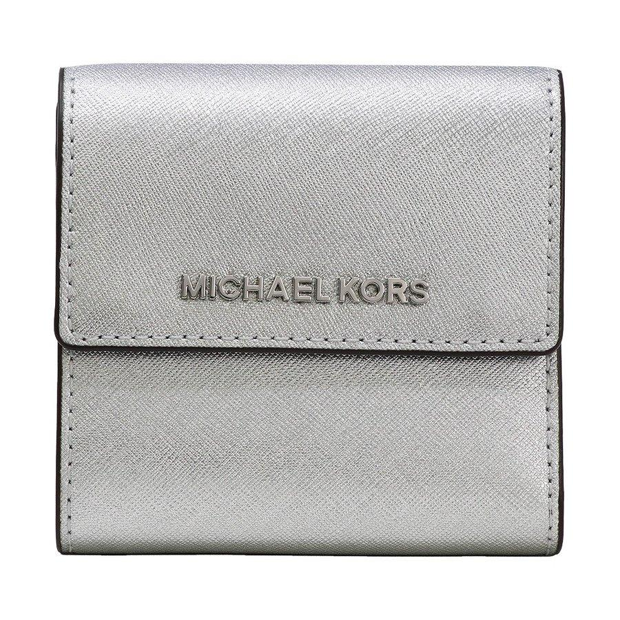 98c71c2a807c3f NEW ARRIVAL Michael Kors Jet Set Travel Small Carryall Wallet In Metallic  Saffiano Leather