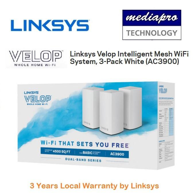 Linksys Whw0103 Velop Intelligent Mesh Wifi System (pack Of 3) - Local Distributor Warranty By Mediapro.