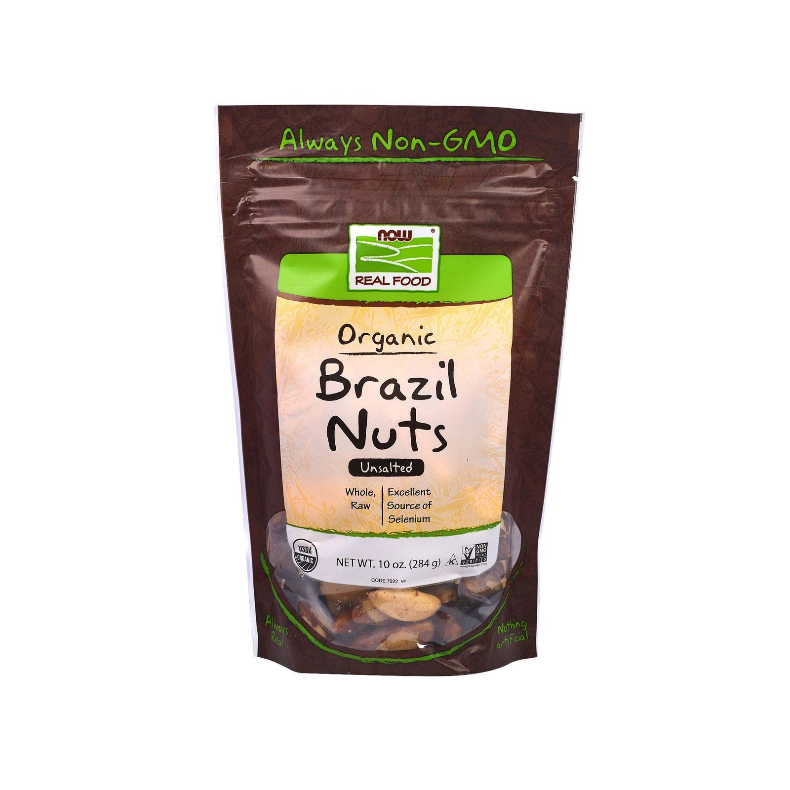 Now Foods, Real Food, Organic Brazil Nuts, Unsalted, 10 Oz (284 G) By Bloom Concept.