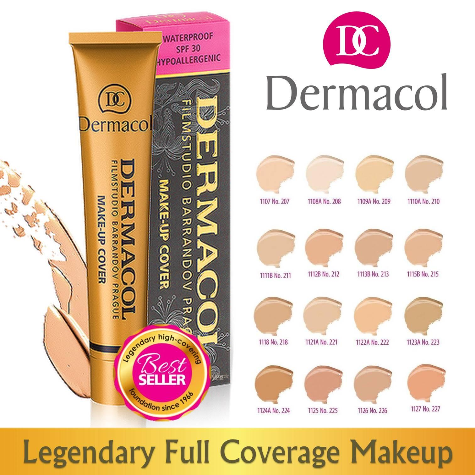 Dermacol Full Coverage Make Up Cover. Authentic Full Range Shade 207- 227. Comparable To Loreal, Maybelline, Missha, Etude House, Innisfree, Laneige Make-Up Foundation And Concealer. By Mirage.