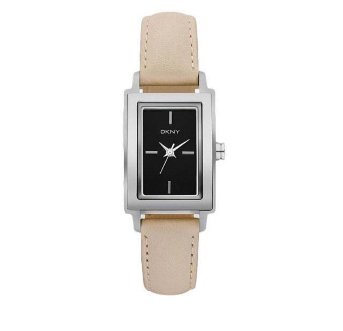 44192797d6d Dkny Nude Leather Strap and Black Dial Watch