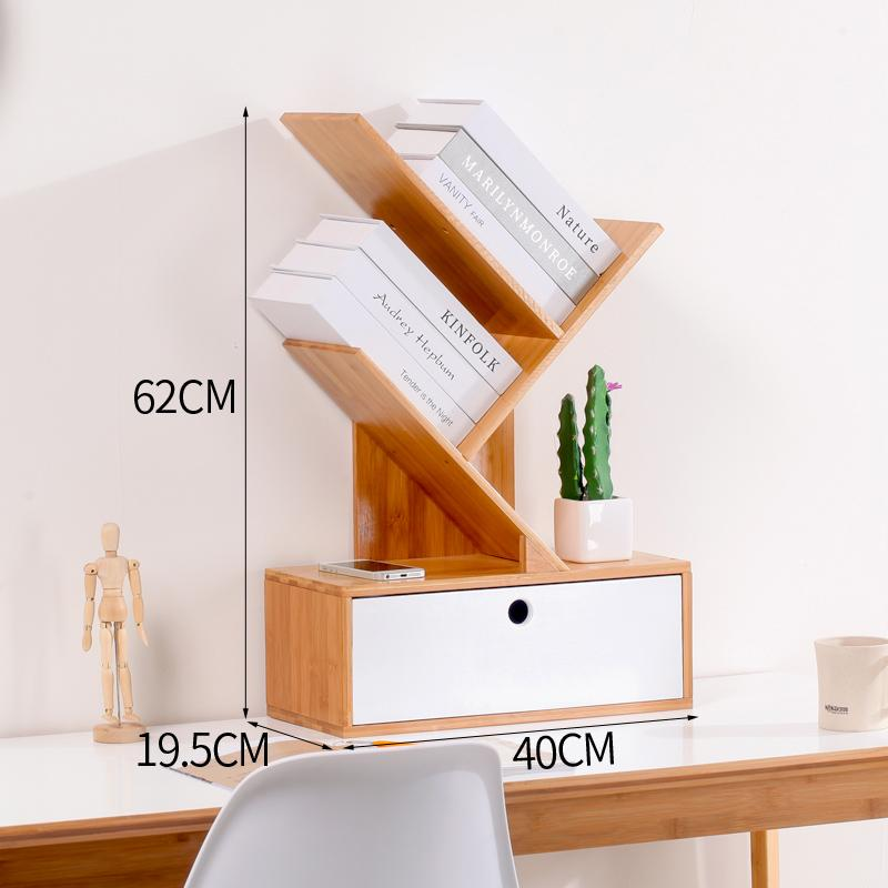[Tmall Signature] zhu ting Desktop Tree Creative Bookshelf Multilayer Drawer Modern Minimalist Small Bookshelf