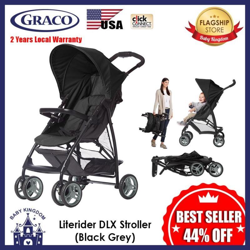 GRACO LITERIDER DLX Stroller (Black Harbour Blue Emea) - Local Warranty Singapore