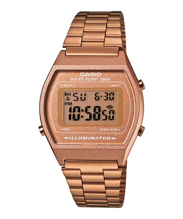 Casio Women S Rose Gold Stainless Steel Strap Watch B640Wc 5A Online