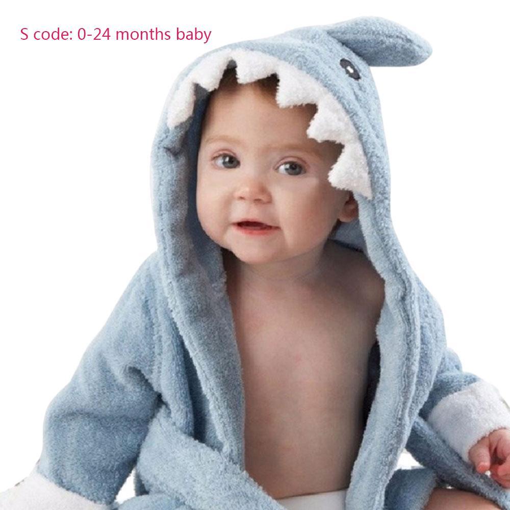 Beautiful Baby Children Boy Girl Sleeping Towel Bath Cotton Hooded Bathrobes Cartoon Print Baby Towel Wash Towels Mother & Kids