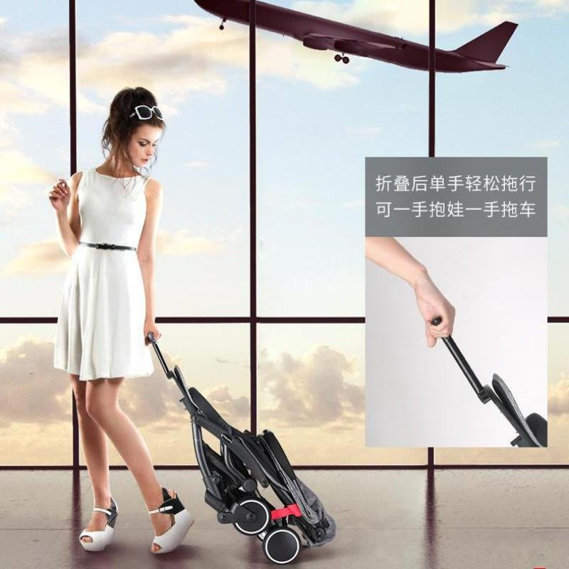 Best One Hand Fold Cabin Size Ultra Lightweight Baby Stroller - Grey Color Singapore