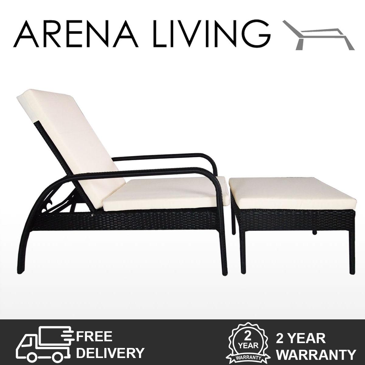 Retail Price Arena Living Ferraria Sunbed White Cushion Fully Assembled